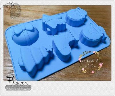 心動小羊^^6連聖誕老公公襪子 聖誕樹皂模免切 皂DIY材料 皂模具 模型 蛋糕模