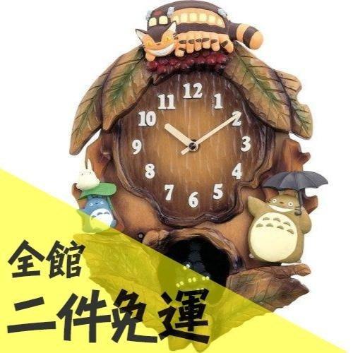 空運 日本正版 龍貓 豆豆龍 咕咕鐘 超可愛 療癒 大型音樂掛鐘 45x33公分 【水貨碼頭】