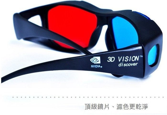 3D眼鏡 (2隻1組)電視電腦專用3D立體眼鏡紅藍3D眼鏡紅藍眼鏡平板電腦 4K MXIII 智慧電視盒