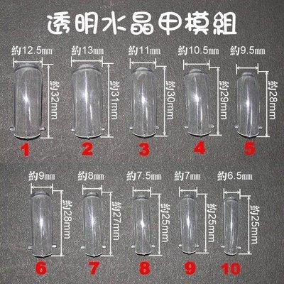 超好用喔~《進口快速水晶甲模組-透明》~每盒80片裝~快速做好水晶甲面的最佳選擇