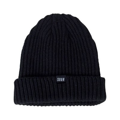 [KUTINAWA] SOUR SOLUTION SWEEPER BEANIE 毛帽 黑色