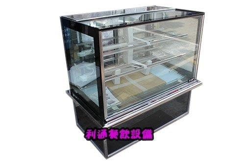 《利通餐飲設備》有現貨 瑞興 4尺方型蛋糕櫃 四尺展示冰箱 展示冰箱 彩色直玻銀飾條
