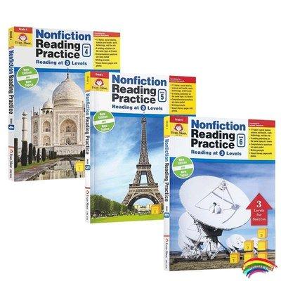 小學高年級 Nonfiction Reading Practice Grade 4-5-6年級【3冊】非虛構類文學閱讀強化練習  美國加州教輔 閱讀與實踐 Ev
