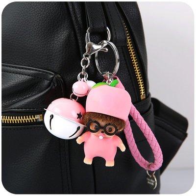 飾品 掛飾創意情侶車鑰匙扣小掛件飾品女韓國少女心可愛粉萌個性包包掛飾