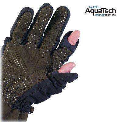 又敗家@美國AquaTech可露指保暖防寒手套#1752防寒保暖手套SENSORY攝影手套GLOVES適東北海道冰島丹麥