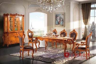 [紅蘋果傢俱] S605L 艾廷軒系列 歐式餐桌 法式 桌子 長方桌 新古典  實木雕刻 別墅餐桌 實體賣場