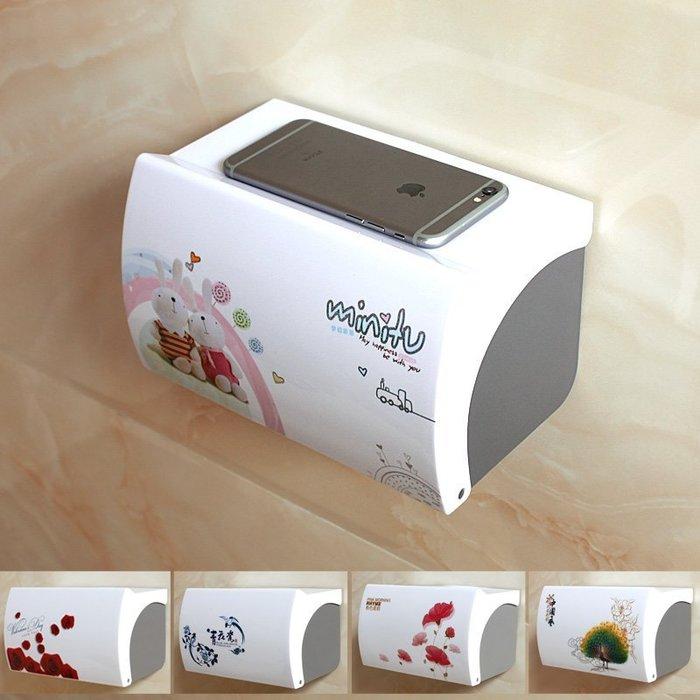 【奇滿來】免打孔衛生間紙巾盒手機架-6款可選 塑膠廁所浴室廁紙盒防水手紙盒卷紙紙巾架創意免釘防水抽卷紙盒AVGW