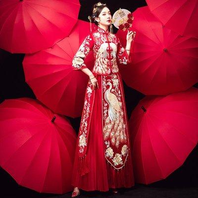 秀禾服新娘新款敬酒服結婚顯瘦秀禾女中式禮服婚紗繡禾服