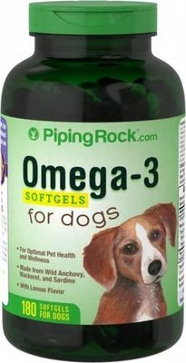 【Piping Rock】狗 魚油 Omega-3 for dogs 寵物專用 180顆