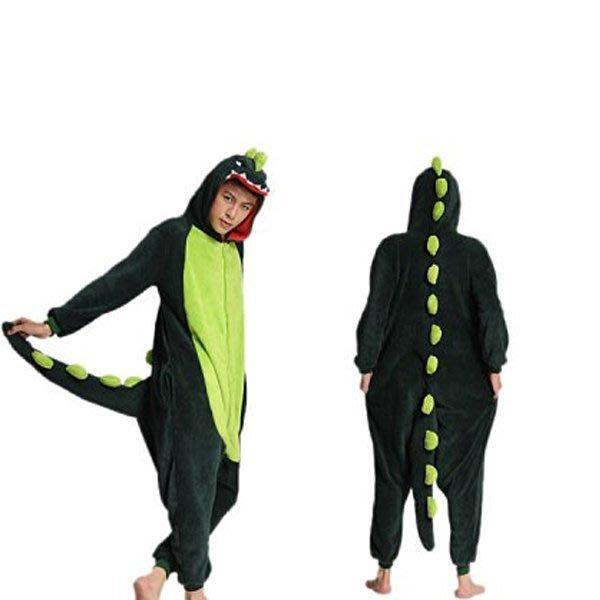 5Cgo【鴿樓】會員有優惠 珊瑚絨卡通動物連體睡衣 情侶家居演出服裝 舞臺劇服飾 cospay 恐龍