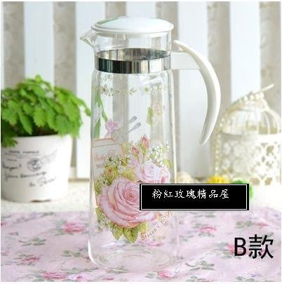 粉紅玫瑰精品屋~出口韓國耐玻璃冷水壼凉水壼~