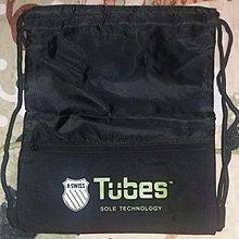 黑色索繩背包【K-SWISS/高闊/43x35厘米】