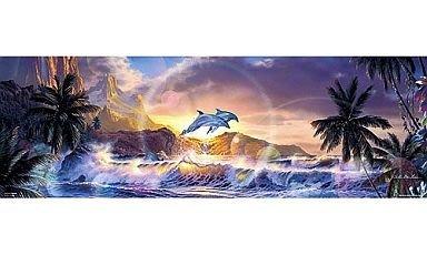 協泰 拼圖-現貨 81-965 海洋 海豚 夜光效果 夕陽 海浪 Lassen BEVERLY 954片