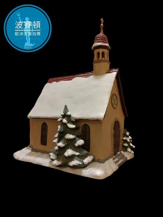 【波賽頓-歐洲古董拍賣】歐洲/西洋古董 德國舊物 大型喜姆娃娃房屋No2(M.I. Hummel Goebel)立燈 (尺寸:高25公分)(年份:約1990年)