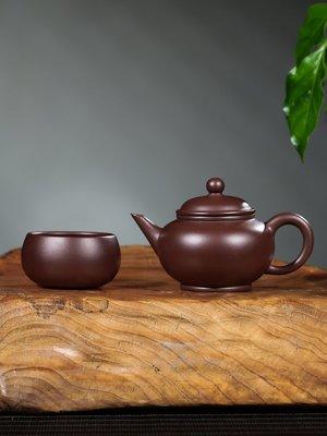 優生活~斗茶紫砂小壺純手工朱泥茶壺配茶杯功夫茶家用茶具小品宜興紫砂壺