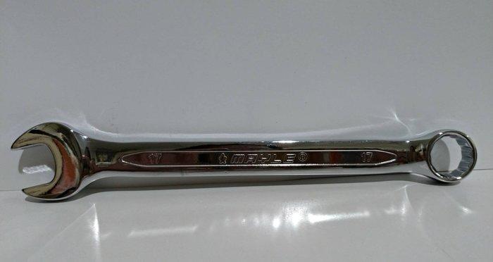 【鎮達】台灣製 鏡面梅開板手 17mm