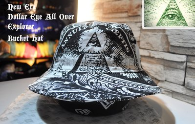 New Era Branded US One Dollar All Over Bucket Hat美金壹元滿版印刷漁夫帽