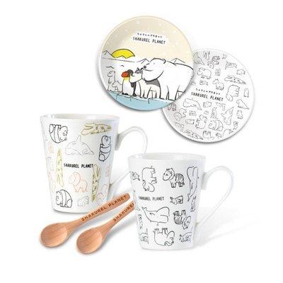 【辛普森娃娃屋】戽斗星球陶瓷盤+馬克杯+木湯匙(六件組)