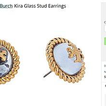 【全新正貨私家珍藏】TORY BURCH KIRA GLASS  Stud EARRING logo閃耀精緻耳環耳釘