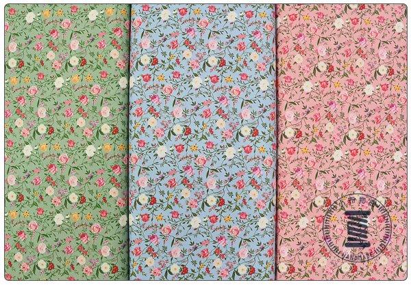 ✿小布物曲✿100%純棉布 花系列 窄幅110CM 韓國進口布料觸感優 共3色 單價