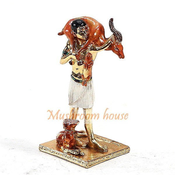 點點蘑菇屋 歐洲精品合金埃及人打獵擺飾品 古埃及文明 埃及古文 圖騰 Egypt飾品 藝術品 現貨
