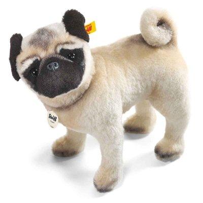 【STEIFF Lielou Mops 德國金耳釦泰迪熊】Bulldog Pug 收藏版牛頭犬 鬥牛犬 獅子犬