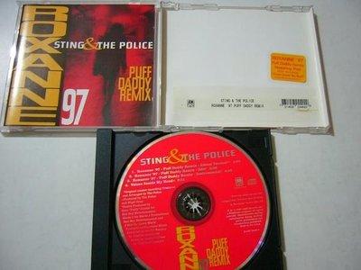 舊CD 英文單曲 Sting 史汀 Roxanne 97 進口絕版混音單曲4首 (保存良好99%無刮傷近全新)