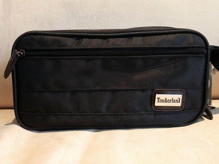 大降價!全新美國名牌 Timberland 黑色男用手拿包盥洗包多功能隨身包,父親節情人節生日最佳贈禮!無底價!免運費!