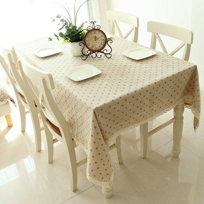 【生活物語】歐式田園棉麻小碎花餐桌布桌巾沙發布茶几150cm*100cm