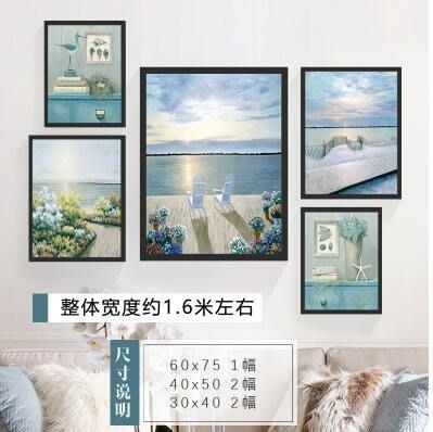 [免運]客廳沙發背景墻裝飾畫北歐組合現代簡約大氣掛畫餐廳創意個性壁畫—印象良品
