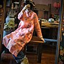 【子芸芳】中式原創立領盤扣亞麻長袖連衣裙長衫