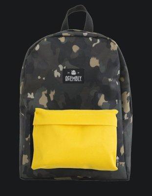 (專櫃品牌) ACEMBLY 後背包 (附肩帶、前小包)-美式潮流 迷彩風X蠟筆黃X迷彩風 筆電包 背包 迷彩背包 書包 玩很大 同款