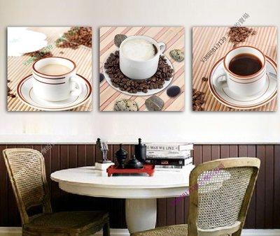 【40*40cm】【厚2.5cm】午後咖啡-無框畫裝飾畫版畫客廳簡約家居餐廳臥室牆壁【280101_115】(1套價格)
