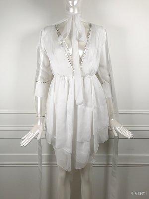 [我是寶琪] INK Flamboyant 白紗洋裝