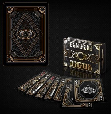 【USPCC撲克】unbranded blackout kingdom Playing Cards S102276