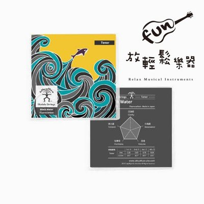 『放輕鬆樂器』全館免運費!aNueNue AS-BWT 黑水弦 烏克麗麗 琴弦 適用26吋 氟碳纖維 公司貨