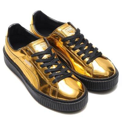 =CodE= PUMA BASKET PLATFORM METALLIC 漆皮增高厚底鞋(金) 362339-04 女