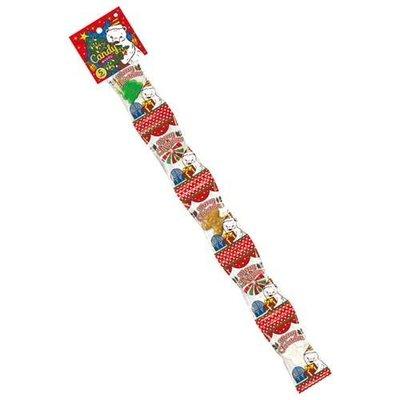 聖誕快樂! 聖誕糖果棒棒糖 五連串  可愛雪人 聖誕樹 和花圈 造型 節慶氣氛濃厚  送人自用皆合宜