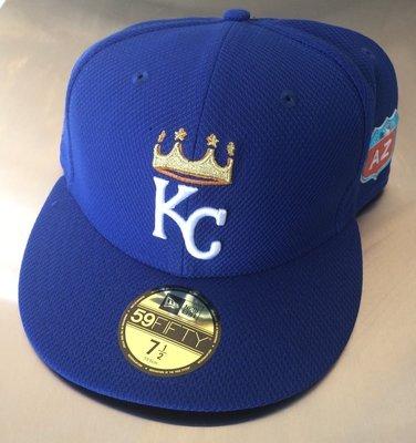 2016 NEW ERA MLB KC Royals 皇家 GAME ISSUED 春訓帽 size:7 1/2 王建民