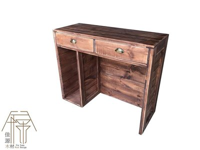 櫃台中島原木木箱棧板訂做商業五金裝潢工程布置婚禮擺木製品木材仿古仿舊工業風鄉村風