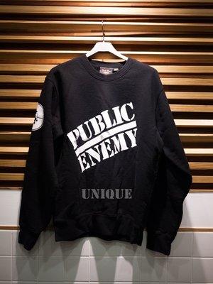 UNIQUE | 全新現貨 18SS SUPREME X UNDERCOVER Public Enemy 大學 衛衣 黑