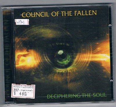 [鑫隆音樂]西洋CD-COUNCIL OF THE FALLEN:DECIPHERING THE SOUL(全新)