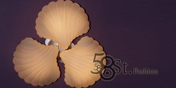 【58街】義大利設計師款式「貝殼3燈吸頂燈」複刻版。GZ-136