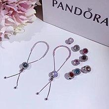 【Pandora】潘朵拉星光璀璨滿鑽手鍊搭配彩珠
