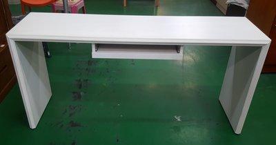 宏品二手家具館 中古辦公家具拍賣 C51805白色電腦桌* 電腦桌/寫字桌/2手OA設備拍賣/會議桌/業務桌