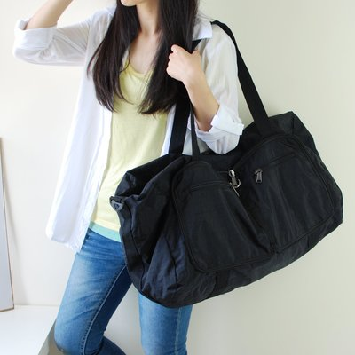 【里樂@ LeaThER】大容量尼龍摺疊收納行李包 旅行袋 出國 巧 463
