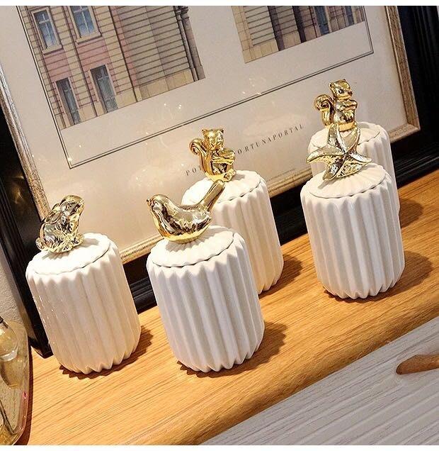 PARIS WOMAN.北歐風.簡約 棉籤、牙籤、化妝棉 帶蓋收納小盒