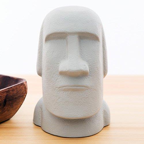 現貨! 日本sunart 摩艾石像貯金箱(存錢筒),高16公分。復活節島 moai石像再現! 日本原裝進口