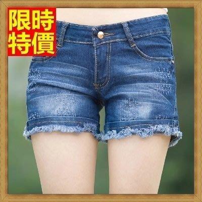 牛仔短褲 丹寧短褲(零碼賠售出清、恕不退換)-提臀顯瘦捲邊休閒女褲子69h6[獨家進口][米蘭精品]