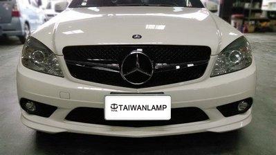 《※台灣之光※》全新BENZ W204 C300 09 08年歐規美規AMG樣式前保桿原廠型霧燈網附框 乘客座邊